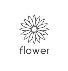 sunflower design template vector image