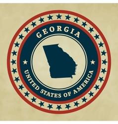 Vintage label Georgia vector image vector image