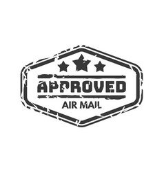 vintage postage approved mail stamp vector image