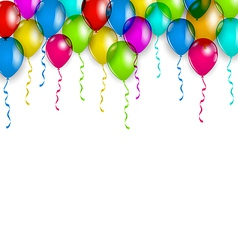 Party decoration with colorful balloons for your vector image