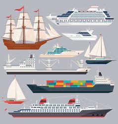 sea transportation of ships vector image