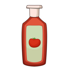 ketchup icon cartoon style vector image vector image