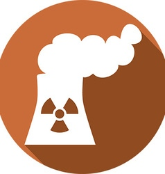 Nuclear Power Plant Icon vector image vector image