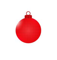 red ball with edges christmas decorations vector image vector image