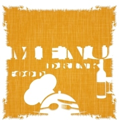 restaurant menu template on the texture background vector image vector image