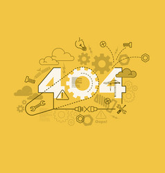 404 website banner design concept vector image