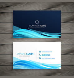 abstract blue business card template vector image