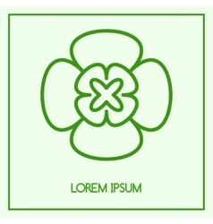 abstract emblem vector image