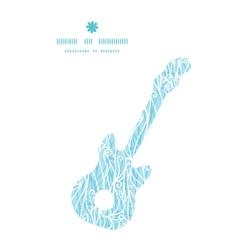 Abstract frost swirls texture guitar music vector
