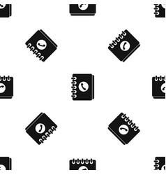 address book pattern seamless black vector image vector image