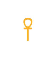 Ankh egyptian ancient symbol of life flat vector