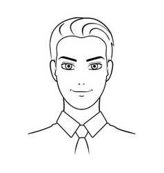 Avatar of a man in a shirtavatar and face single vector