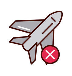 Avoid travel in plane prevent spread covid19 vector