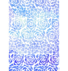 background with blue watercolor succulents on a vector image