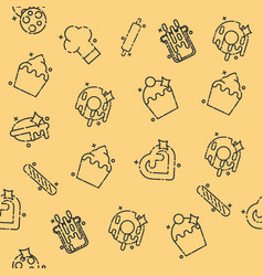 bakery icons set pattern vector image