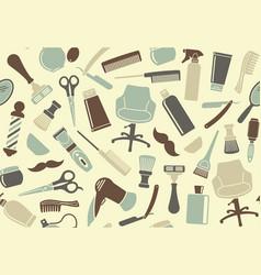 barbershop seamless background vector image