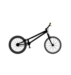 Bicycle for tricks and jumps trial bike vector