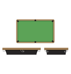 billiard table on side and on top vector image