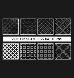 black and white seamless pattern with geometric vector image