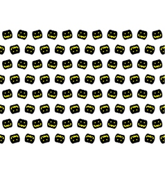 Black pumpkin pattern vector