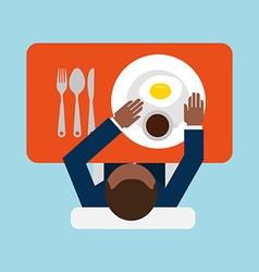 Breakfast menu design vector
