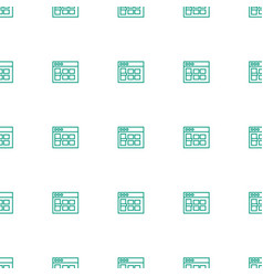 browser window icon pattern seamless white vector image
