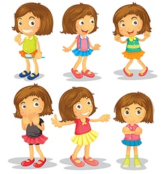 Brunette kids vector image