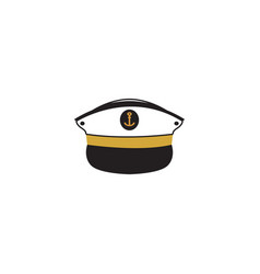 captain hat graphic design template isolated vector image
