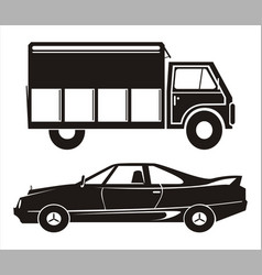 Car and truck vector