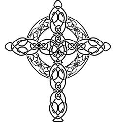 Celtic cross2 vector