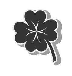 clover lucky plant icon graphic vector image