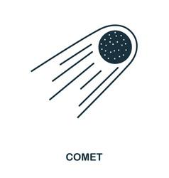comet icon flat style icon design ui vector image