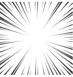 Comic book black and white radial lines background vector