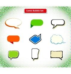 Comic Bubble Set Icon Flat Style Design vector image