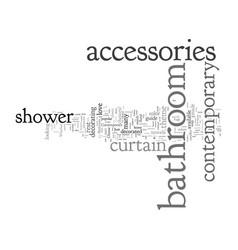 Contemporary bathroom accessories vector