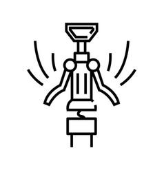 corkscrew line icon concept sign outline vector image