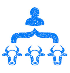 Cow shepherd icon grunge watermark vector
