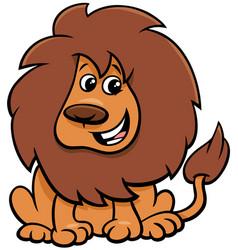 cute lion animal character cartoon vector image