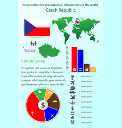 czech republic infographics for presentation all vector image