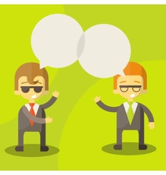 dialogue businessmen vector image