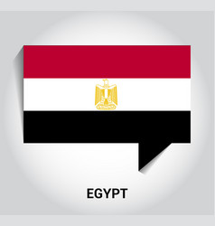 egypt flag design vector image