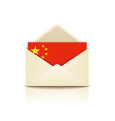 envelope letter flag of china vector image