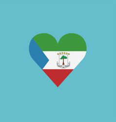 equatorial guinea flag icon in a heart shape in vector image