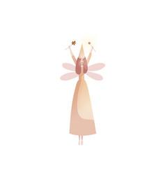 fabulous fairy on white background childhood vector image