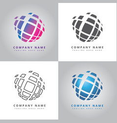 Flat modern circle logo design vector