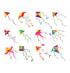 game kite set vector image