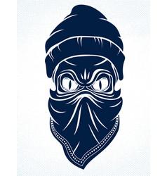 Gangster skull logo icon or tattoo urban stylish vector