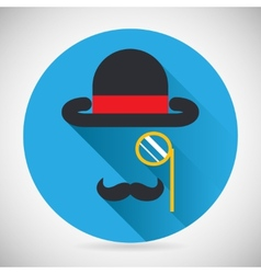 Gentleman Accessories Symbol Bowler Hat and vector image