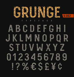 grunge font 004 vector image