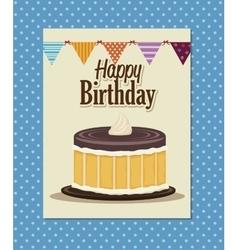 happy birthday cake isolated icon design vector image